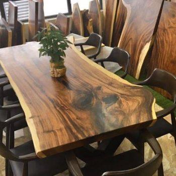 bàn cafe gỗ nguyên khối TS116