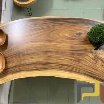 bàn nguyên tấm gỗ me tây TS127