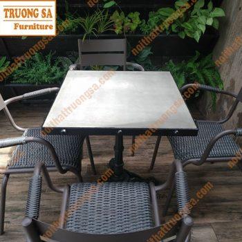 bộ bàn ghế mây nhựa ngoài trời TS134