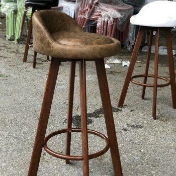 Ghế quầy bar chân gỗ BAR06