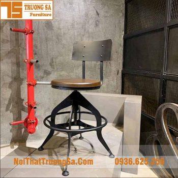 Ghế quầy bar gỗ chân sắt TS500