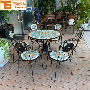 bàn ghế cà phê ngoài trời TS112