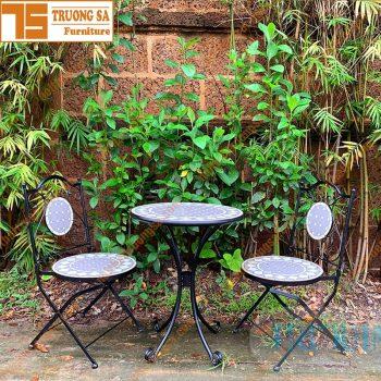 Bàn ghế cafe ngoài trời TS120